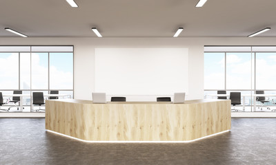 Wooden reception