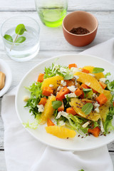 fresh salad with pumpkin