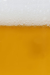 background of beer in the glass
