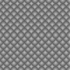 Abstract grey background with balls