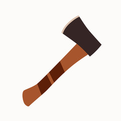 Tourism axe icon.