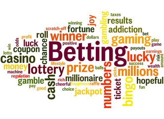Betting, word cloud concept 2