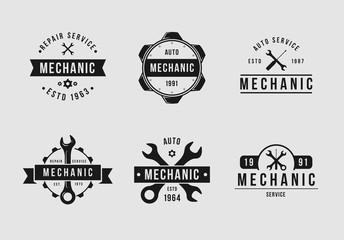 White and black mechanic set