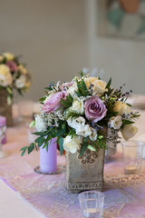 lilac bouquet, wedding floristry and decoration