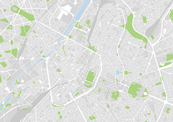 vector city map of Brussels, Belgium