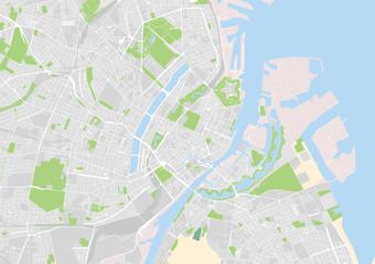 vector city map of Copenhague, Denmark