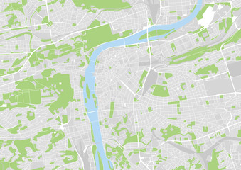 vector city map of