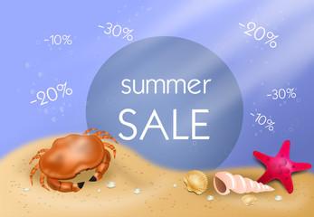 Summer sale under water