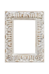 Picture frame isolated on white background with clipping path.