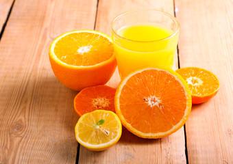 Citrus juice in a glass