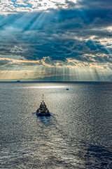 Tugboat in Red sea