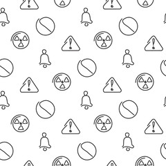Danger and alarm seamless pattern