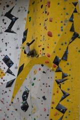 Klettern an Kletterwand