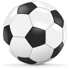 Fussball schwarz weiß Vektor