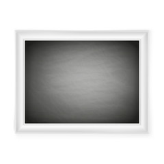 Blank chalkboard in light frame. EPS 10