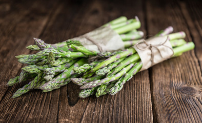 Portion of green Asparagus