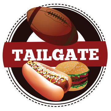 American football tailgate party icon. EPS 10 vector.