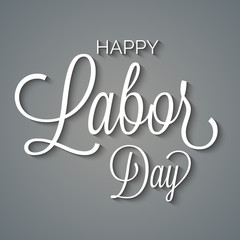 Vector illustration of a stylish text for Happy Labor Day.