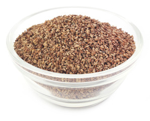 Ajwain seeds in a glass bowl