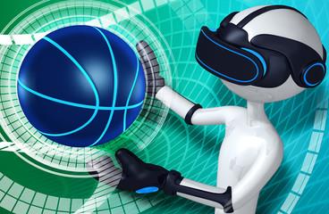 Virtual Reality VR Basketball