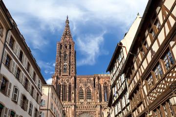Strassburg, Blick auf die Cathedrale, Münster