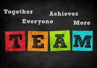 Teamwork - chalkboard illustration
