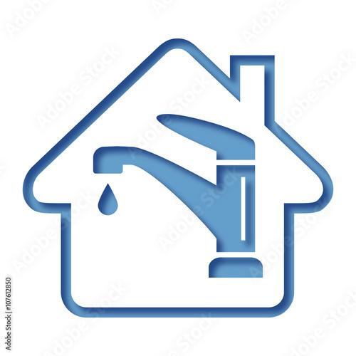 Logo maison et consommation eau stock image and royalty for Consommation eau maison