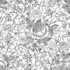 Floral seamless pattern. Flower background. Flourish seamless texture