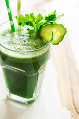 Organic detox drink with vegetables