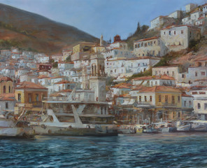 Hydra island,handmade paintings