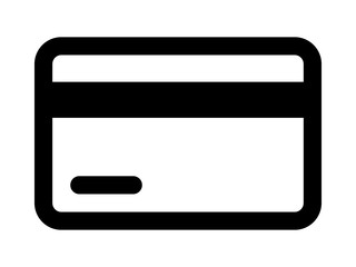 Credit card / debit card line art icon for apps and websites