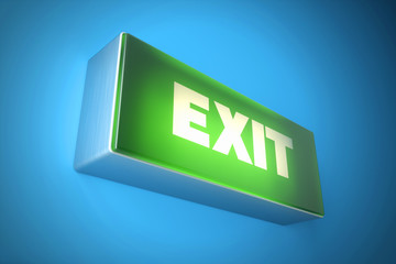 Exit signboard light. Fire exit sign