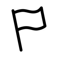 Message white flag line art icon for apps and websites