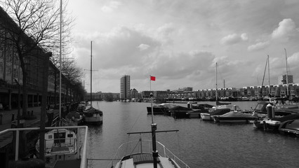Red sailing flag