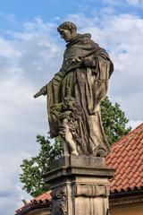 Statue on Charles Bridge (Karluv most, 1357). Prague, Czech Rep.