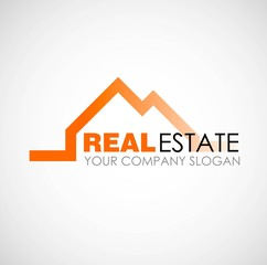 Real estate logo design. Real Estate business company. Building logo. Real estate design concept