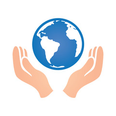 Hand Holding Earth World Fundraising Donation and Charity Icon