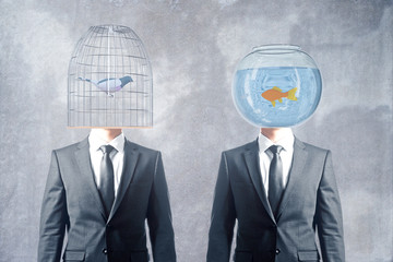 Cage and fishbowl heads