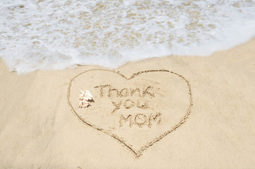 Mothers day on the beach background