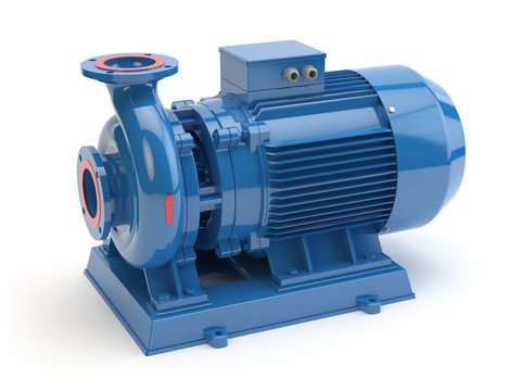 Blue electric water pump