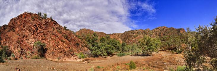 FR Gorge Riverbed rocks trees