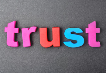 Trust word on background