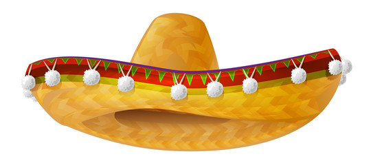 Mexican hat. Mexican wide brimmed hat sombrero