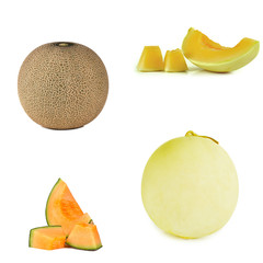 cantaloupe close up for background