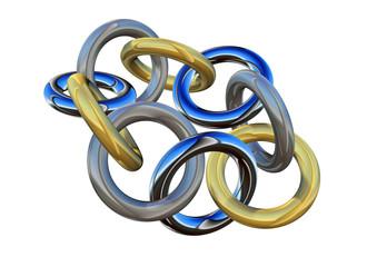 連結されたリング 結束力のイメージ