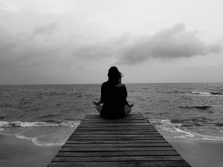 meditate by the sea