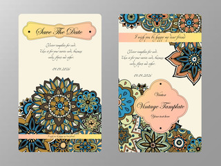Vintage card tamplate. Wedding invitation, card for your busines
