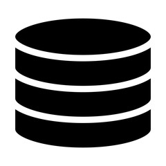 Database server / drum memory flat icon for apps and websites