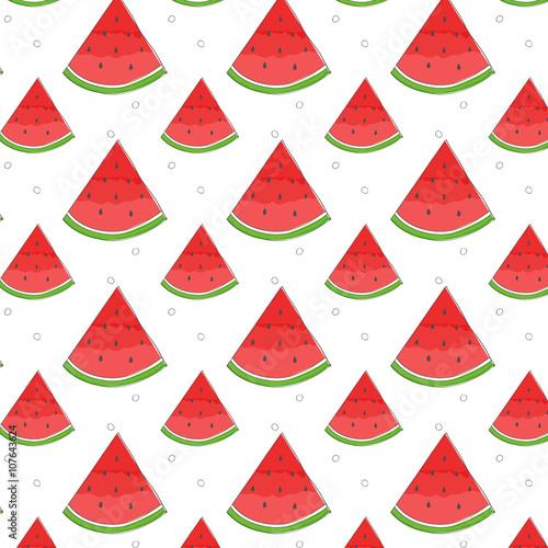 Hand Drawn Watermelon Pattern Wallpaper Design Print Texture