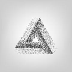 Dotwork Tribar. Penrose Triangle. Penrose Tribar. Vector Illustration